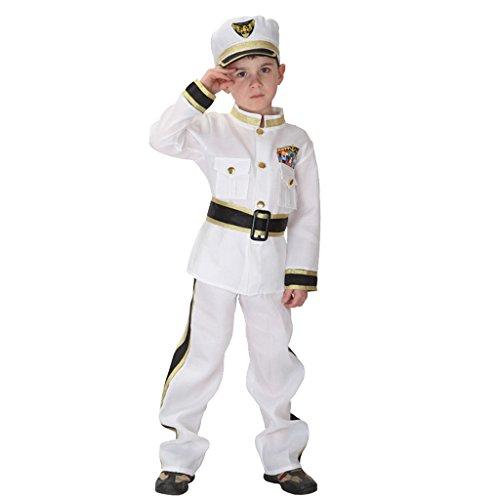 Uniform Kind Kostüm Marine - MagiDeal Armee-Kostüm Kinder Marine Kostüm Seemann Uniform Outfit Set - M