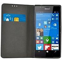 BigBen Stand Etui folio pour Microsoft Lumia 950 XL Noir