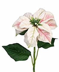 Idea Regalo - artplants Set 6 x di Stella di Natale Artificiale MARRIT, Bianco-Rosa, 70cm, Ø20cm - Poinsettia Finta/Decorazione Natalizia