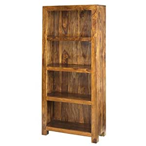 Cuba Sheesham Bookcase Furniture Kitchen Home