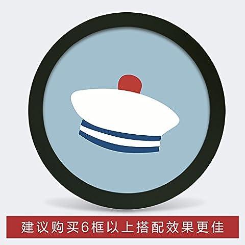 Photo Frame parete fumetto creativo cornice rotonda famiglia soggiorno camera da letto TV decorazioni a parete immagine di sfondo frame , piccolo cerchio bianco (diametro) ,2 19cm