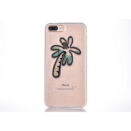 Case per iPhone 7 Plus,Cover per iPhone 7 Plus ,Bonice Ultra Slim Diamante Bling Specchio Glitter Lusso Cristallo Strass Morbida Rubber Bumper 360 Gradi [Rotazione Grip Ring Kickstand] con Supporto De Creativo 04