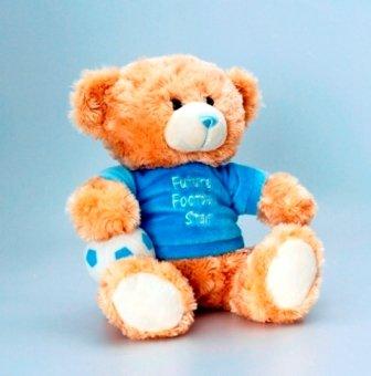 Deluxe Cuddles Bär 25cm tragen T-Shirt-Future Fußball Star (sn3892) -