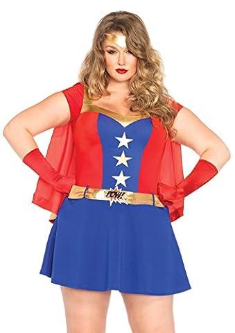 Leg Avenue 85432X - Comic Book Girl Damen kostüm, Größe 3X-4X (EUR 48-50) (4x Superheld-kostüm)