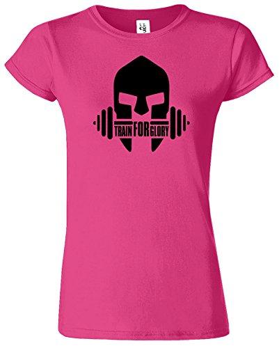 GYM Crossfit Workout Funktions Ausbildung Sport Damen T-Shirt Antique Heliconia / Schwarz Design