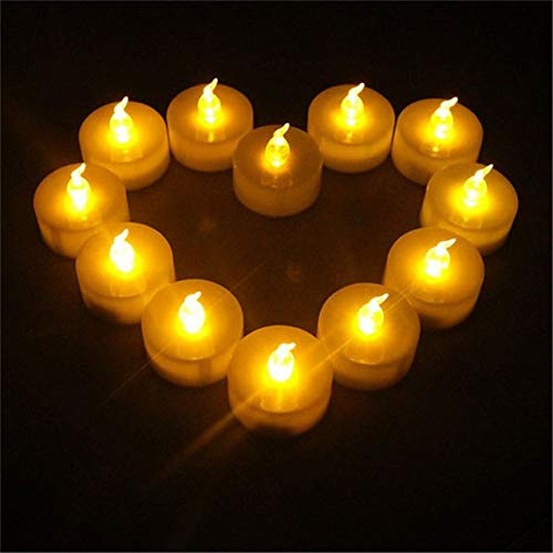 wangZJ 24 Stück Mini Kerzen/Led Kleine Kerze/Mit Batterie In Kerzen/Flammenlose Dekorative Kerze/Batterie/Klassenzimmer/Hochzeit/Weihnachten/Gelb Flimmern