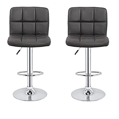 Homegear M2 Contemporary Adjustable Faux Leather Bar Stool x2 - low-cost UK bar stool shop.