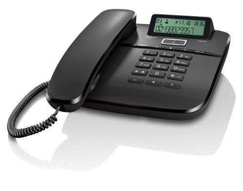Gigaset DA610 Telefon mit Schnur und Maschine beantworten, Schwarz