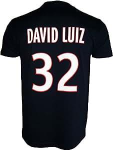 T-shirt PSG - David LUIZ - N°32 - Collection officielle PARIS SAINT GERMAIN - Taille enfant garçon 6 ans