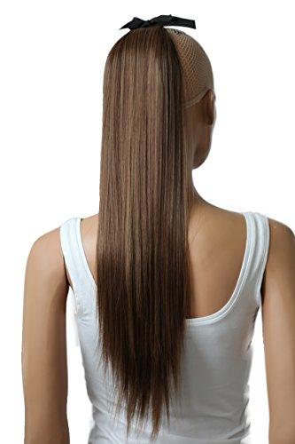 PRETTYSHOP Haarteil hairpiece Zopf Pferdeschwanz Haarverlängerung 60cm glatt diverse FarbenHC6