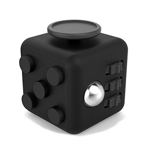 Fidget cube anxiety toy in black