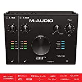 M-Audio M-Track 2x2 - Interfaz de audio USB con 2 entradas y 2 salidas, audio a 24 bits y 192 kHz, con ProTools | First y paquete de software profesional de AIR Music Tech incluido