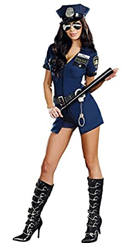 Honeystore Sexy Frau Rollenspiel Kostüme Cosplay Polizistin Uniform Lingeries für die Schaffung sexy Atmosphäre Blau One Size