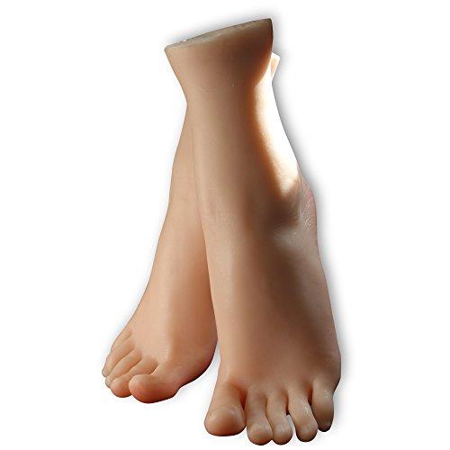 kumiho Maniqui de pie Modelo de pie Molde de pierna Modelo de pie de mujeres Calcetines Medias Zapatos Cadena de pie Modelo de exhibición Collar de tobillo Molde de zapatos de tacón alto Tamaño real Piernas hermosas Expositor de joyas,El material principal:TPE 3805