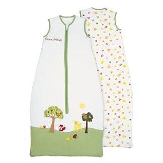 Saco de dormir para bebé (1 tog) de Slumbersac: diseño de animales del bosque, en diferentes tallas (de 0 a 6 años)