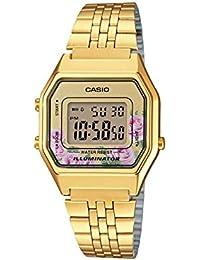 62a29cc43c2c Casio Reloj Digital para Mujer de Cuarzo con Correa en Acero Inoxidable  LA680WEGA-4CEF