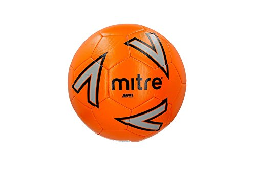 MITRE IMPEL TRAINING FOOTBALL 2018 - SIZE 4 - ORANGE SILVER BLACK - PACK OF 10 BALLS