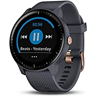 Garmin Vivoactive 3 GPS Smartwatch with Music Storage and Playback - Rose Gold/Granite Blue