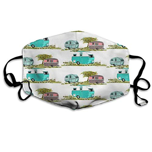 Desing shop Lets Go Camping Retro Travel Trailers Non-Toxic Dust & Filter Safety Masks (Halloween 3 Trailer)