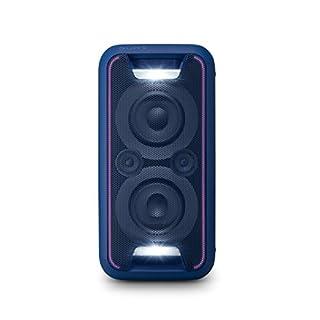 Sony GTK-XB5 One Box Party Soundsystem (200 W Ausgangsleistung, Extra Bass, Bluetooth, NFC, Licht und DJ-Effekte) Blau