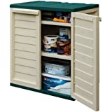 Rowlinson Plastic Utility Cabinet - Green and White