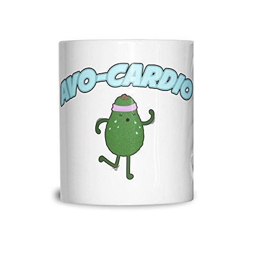 Avo-Cardio Workout palestra cardio fitness Esecuzione Pun Umorismo Joke Tazza In Ceramica