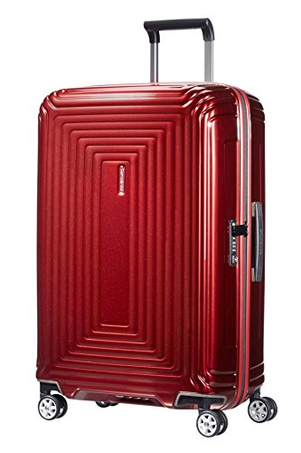 Samsonite Neopulse - Spinner M Valigia, 69 cm, 74 L, Rosso (Metallic Red)