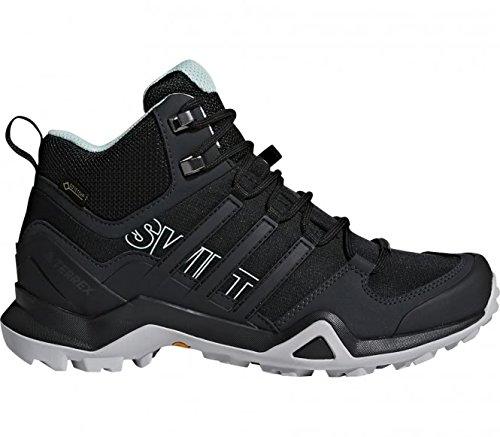 adidas Damen Terrex Swift R2 Mid Trekking-& Wanderstiefel, Schwarz (Negbas/Negbas/Vercen 000), 40 2/3 EU