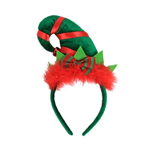 BESTOYARD Elf Hut Stirnband Weihnachten Hut Haarband für Weihnachten Kostüm Kostüme Zubehör
