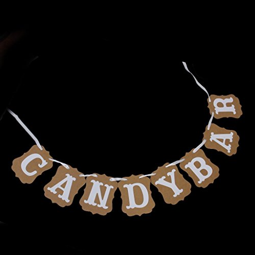 Prix Newin Star 1pc Candy Bar décorations de fête Bunting bannières 3m Brown