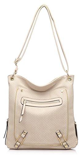 Big Handbag Shop ,  Damen Umhängetaschen Beige (BH465)