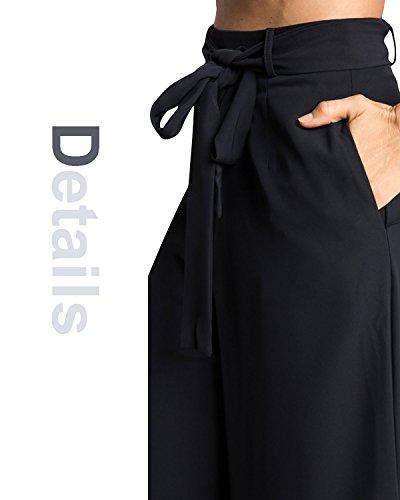 Dolamen Donna Pantaloni, Lungo Skinny Pantalonis, pantaloni delle signore Perfetto per casual, scuola e ufficio Nero