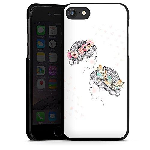 Apple iPhone X Silikon Hülle Case Schutzhülle Hippie Love Liebe Hard Case schwarz