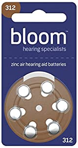 Rayovac Hearing Aid Batteries for Bloom Size 312 (Pack of 60 cells)