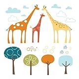 Skip Hop 185115 Wandfiguren, Sticker und Holzbuchstaben, Giraffe Safari