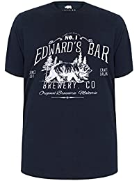 Yours Mens Badrhino 'Edward's Bar' Slogan Print T-Shirt Extra Large Sizes L To 8XL
