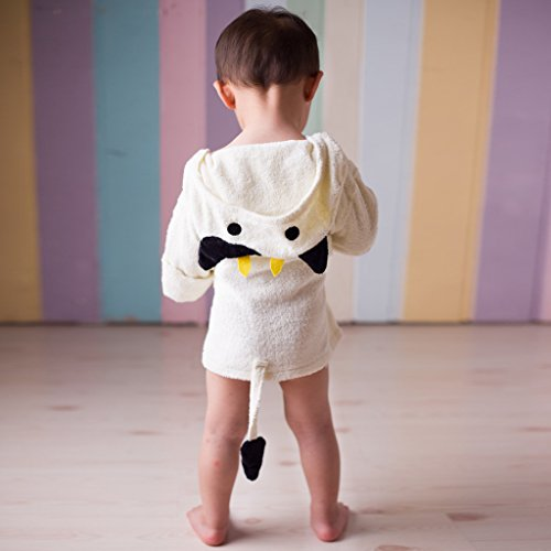 Magideal Animal Baby Robe Hooded Adorable Baby Bathrobe Soft Cotton Milk Cow