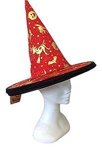 Joker jh028-r-Sombrero bruja Halloween, rojo