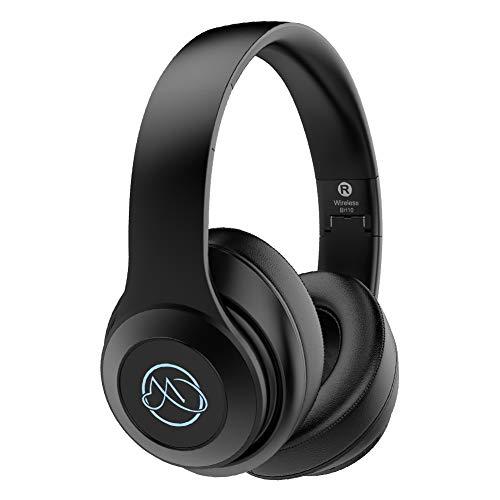 Bluetooth Kopfhörer Over Ear, MEHRWEG HiFi Kopfhörer Kabellos mit Mic,20 Std Spielzeit, Leicht-Kopfhörer ohne Kabel für Kinder/Erwachsene,Funk Kopfhörer für Sport Musik Handy/PC/Laptop TV (Schwarz)