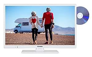 Telefunken XH24D101VD-W 61 cm (24 Zoll) Fernseher (HD Ready, Triple Tuner, DVD-Player, 12 V)