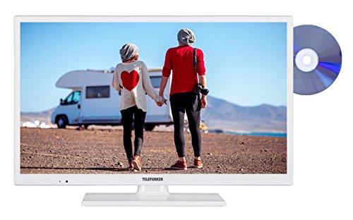 fernseher triple tuner dvd player Telefunken XH24D101VD-W 61 cm (24 Zoll) Fernseher (HD Ready, Triple Tuner, DVD-Player, 12 V)