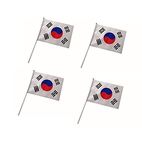 0pcs / pack Korea Hand Waving Flags Mini Nationalflagge Hand 14 gehaltene * 21CM Dekor für Büro-Schreibtisch-Garten Parades Bar Schule Sport Veranstaltungen Festival Feste ()