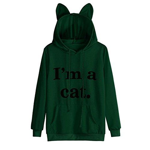 ulli, Lenfesh Cartoon Langarm Kostüm Tier Cosplay Sweatshirt Tops (L, Grün) (Grünen Kostüm Ideen Für Tag Des Sports)