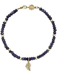 Dower & Hall  - FINENECKLACEBRACELETANKLET 9 k (375)  Gelbgold Rundschliff   blau Saphir Diamant