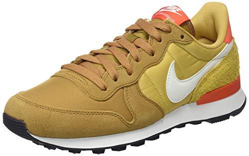 Dark Bronze Leder Schuhe (Nike Damen Internationalist Sneakers, Mehrfarbig (Muted Bronze/Summit White/Wheat Gold 207), 41 EU)