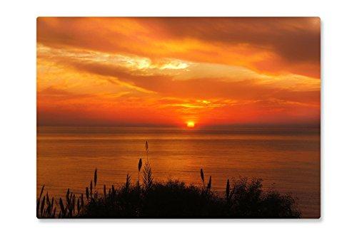 Rutschfeste Design-Schreibunterlage 'Sonnenuntergang Meer' 70 x 50 cm, aus DA-Media in...