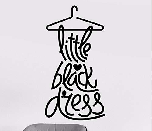 (Lvabc 42X79 Cm Little Black Dress Wandtattoos Mode Zitat Wandaufkleber Frau Aufkleber Für Bekleidungsgeschäft Removable Home Window Decor)