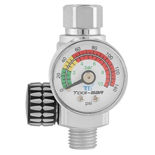 Druckminderer,Spritzpistole Druckregler Druckregler Barometer Große Einstellskala Klar Gilt für Druckluft- und Druckluftwerkzeuge