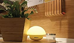PLAYMOR 7 Color LED Night Lamp,Tap Lamp, Fashionable Bed Side Accessory, Table Top lamp, Best Gift For Bedroom, Baby Room, Nursery, Outdoor. LED Lamp With Seven Interchanging Lights