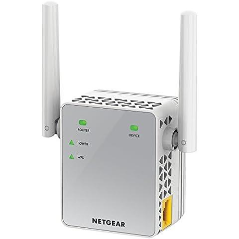 Netgear EX3700-100PES - Extensor de red (Wi-Fi, Dual-Band, antenas externas), color blanco